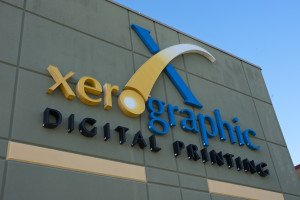 Xerographic Digital Printing sign close up